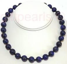 lapis lazuli necklace of 9 10 mm beads on an 18inch necklace 4 391 p jpg