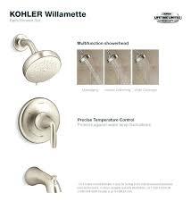 kohler single handle shower valve tub and shower faucet in vibrant brushed nickel kohler single handle