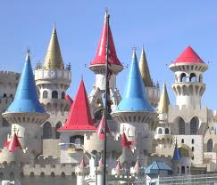 Hotel Castle Blue Excalibur Casino And Hotel Castle Theme With Red Gold And Blue