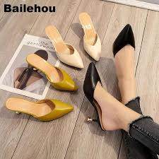 <b>Bailehou</b> Women <b>Slippers</b> Med Heel <b>Sandals Summer</b> Slip On ...
