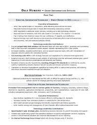 Cio Sample Resume Delectable Resume Accomplishment An Accomplishments Resume Professional