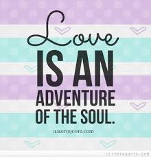 Love Adventure Quotes Classy Love Is An Adventure Of The Soul