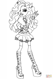 MONSTER HIGH Coloring Pages And Clawdeen Wolf Coloring Page ...