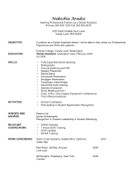 Professional Resumes Student Entry Level Dental Assistant Resume