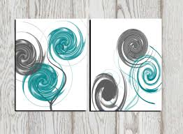 Teal Living Room Accessories Abstract Art Abstract Print Gray Teal White Printable Home