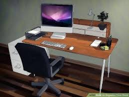 items for office desk. Personal Office Desk Image Titled Organize Your Step Items On For