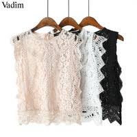 2019 camis crop tops summer sexy tube women casual sleeveless tank strapless femme lace hollow out