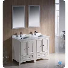 Bathroom Vanity Double Beauteous Fresca FVN4848AW Oxford 48 Antique White Traditional Double Sink