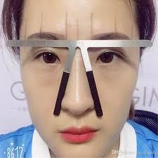 metal permanent makeup ruler eyebrow shaping stencil tools ratio divider ruler reusable eyebrow ruler tool meres