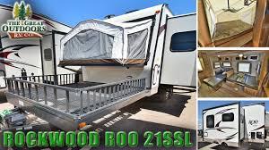 2018 forest river rockwood roo 21ssl r1079 toy hauler travel trailer hybrid rv dealer
