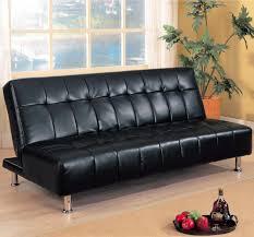 armless faux leather futon sofa bed