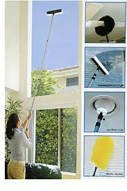 ceiling fan duster with extension pole. long extension pole allows you to reach almost anywhere. ceiling fan duster with -