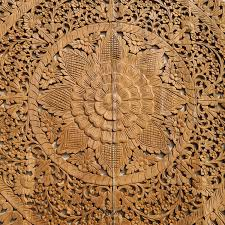fl hand carved wooden wall art panel
