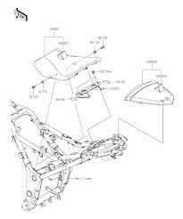 2016 kawasaki ninja 300 abs ex300bgf seat parts best oem seat parts diagram for 2016 ninja 300 abs ex300bgf motorcycles