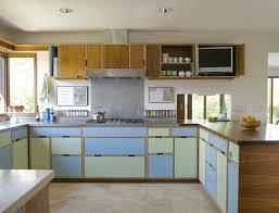 mid century modern kitchen remodel built in sink black iron bolted mid century kitchen cabinets