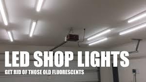 Workshop Light Fixtures Upgrade Your Garage Workshop Lighting To Leds For Better Youtube Videos