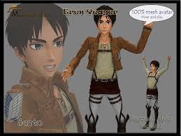 11,516 likes · 55 talking about this. Second Life Marketplace Avatar Eren Jaeger Shingeki No Kyojin 100 Mesh Bento