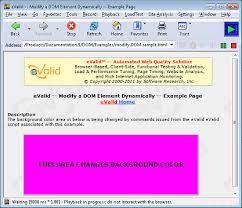eValid -- Modify a DOM Element Dynamically