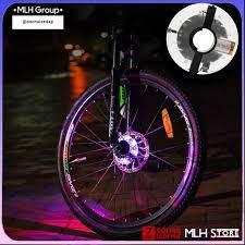 Đèn Led Gắn Bánh Xe Đạp Neon 7 Màu (Trục Giữa Phi 19-36mm) Có Sạc Điện USB  Chống Nước MLH Chất Lượng Cao chính hãng