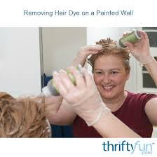removing hair dye on a painted wall