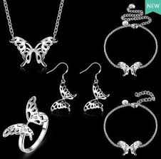 2019 2017 <b>New Arrivals</b> Plating <b>925 Sterling</b> Silver Lovely Butterfly ...
