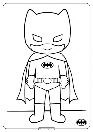 And these aren't just for kids. Printable Cute Batman Coloring Pages For Kids