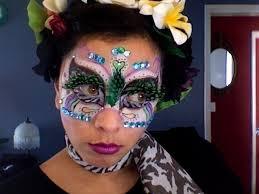 electric zoo zebra bird makeup tutorial