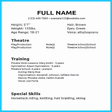Beginners Acting Resume Fresh Actor Resume Template Fresh Acting