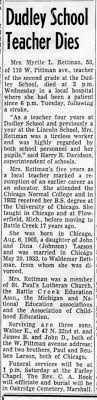 Myrtle Larson Obituary - Newspapers.com