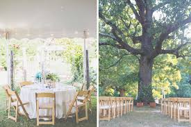 wedding ceremony under a tree outdoor wedding reception under a tent