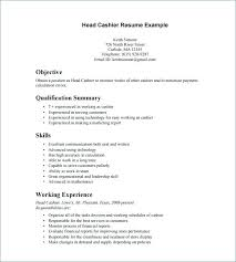 Examples Of Resumes For Cashiers Examples Of Completed Resumes And
