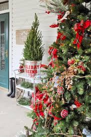 rustic plaid farm house cabin christmas tree by kara allen karaspartyideas for