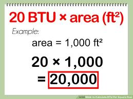 British Thermal Unit Btu Chart Calculate Btu Per Square Foot Square Feet Calculator Chart
