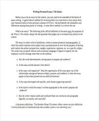 essay writing examples personal essay writing