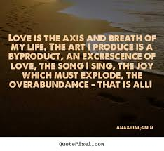 Design your own picture quotes about love - Love is the axis and ... via Relatably.com
