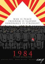 ficious poster for 1984 by george orwell 1984 cover
