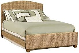 indoor wicker bedroom furniture. Plain Furniture Wicker Cabana Tropical Banana Leaf Bed Intended Indoor Bedroom Furniture