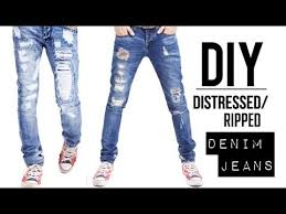 Design Own Pants How To Distressed Denim Jeans Easy Diy Tutorial Jairwoo Youtube