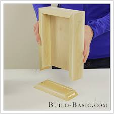 diy shadow box state frame by build basic step 6