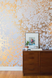 Gold Wallpaper Accent Wall
