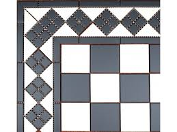 Black And White Tiles Collection Porcelain Floor Tile Black