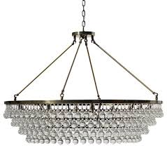 celeste xl glass drop crystal chandelier antique brass