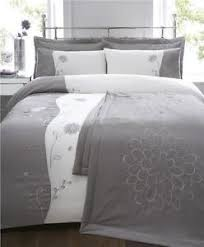 12 best King Size Bedding images on Pinterest | Bath, Bed in a bag ... & Silver grey king size bed set duvet cover & bedspread throw quilt set Adamdwight.com