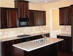 Dark Kitchen Cabinets With Light Granite Best Espresso Kitchen Cabinets Backsplash Ideas Home Decor Photos Gallery