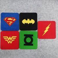 Freeshipping <b>10 pcs</b> Justice League Superhero Square Felt Coaster ...