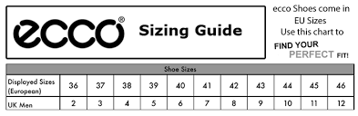 Ecco Shoe Chart China Shoe Conversion Online Charts Collection