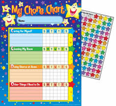 Star Progress Chore Reward Chart
