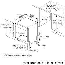 measure new dishwasher