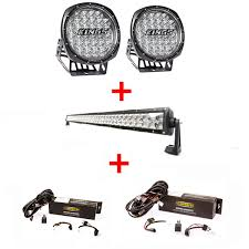 illuminator 9 round led driving lights pair 42 led light bar illuminator 9 round led driving lights pair 42 led light bar