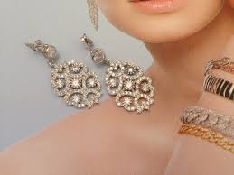earrings chandelier drop earrings bridal jewelry weeding jewelry bridesmaid jewelery